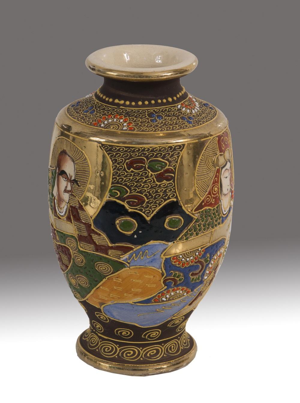 Decoracion Jarrones Chinos ~ Pareja de jarrones chinos en porcelana policromada, representan