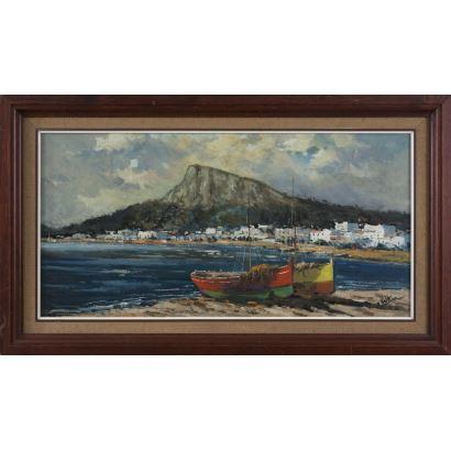BELTRÁN MESSA, Enric (Valencia, 1940-2006). Óleo sobre lienzo.