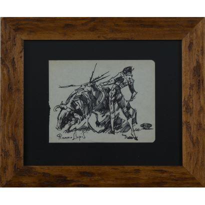 RUANO LLOPIS, Carlos (Orba, 1878-México, 1950). Dibujo sobre papel.