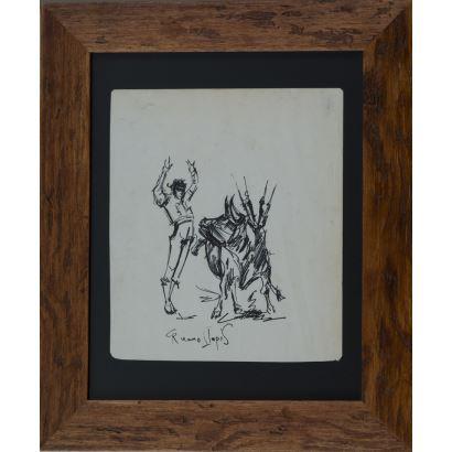 Carlos Ruano Llopis (Orba, 1878-México, 1950). Dibujo sobre papel.