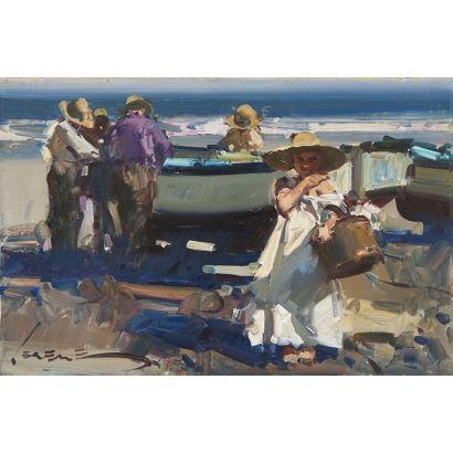 SEGRELLES DEL PILAR, Eustaquio (Albaida, 1936). Óleo sobre lienzo. 2001.
