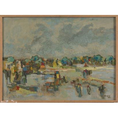 A.GÓMEZ (Santiago de Chile, 1964). Acrílico sobre lienzo. 2003.