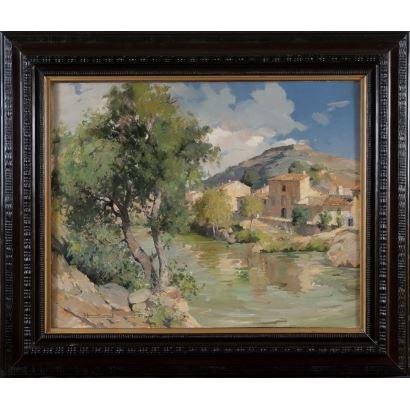 FERRÉ REVASCALL, Josep (Vilaplana, 1907-Reus, 2001). Óleo sobre lienzo.