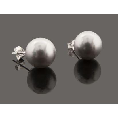 Elegantes pendientes con perlas plata filipinas, cierre de plata.
