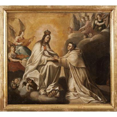 Óleo sobre lienzo. Escuela española. ss. XVII-XVIII.
