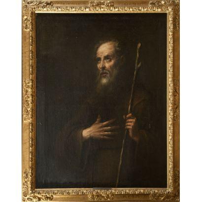 Óleo sobre lienzo. Escuela sevillana s.XVII. Círculo de Ribera.