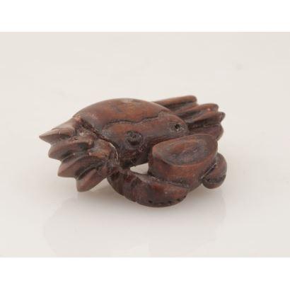 Netsuke tallado en madera.