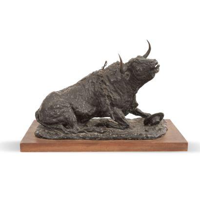 FRANCISCO BONILLA VILLALBA (1920-1978). Escultura realizada en bronce sobre base de madera.