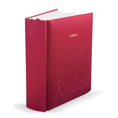 Biblia de Rembrandt (reproducción facsímil).  Ediciones EDP. Barcelona 2008. Medidas caja: 55 x 65 x 18,5 cm.
