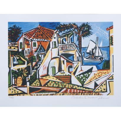 Impresión giclèe. Pablo Picasso. Colección Pablo Picasso, con certificado de impresión numerado a lápiz 197/500.