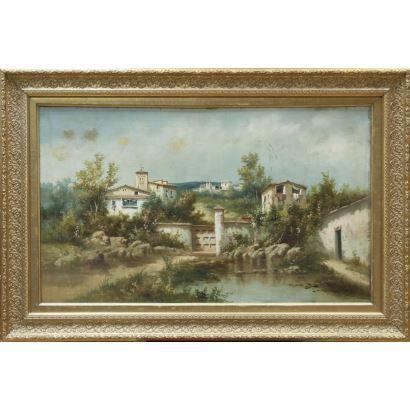 FRANCiSCO CORDERO, José (Jerez de la Frontera, Cádiz 1851-?). Óleo sobre lienzo.