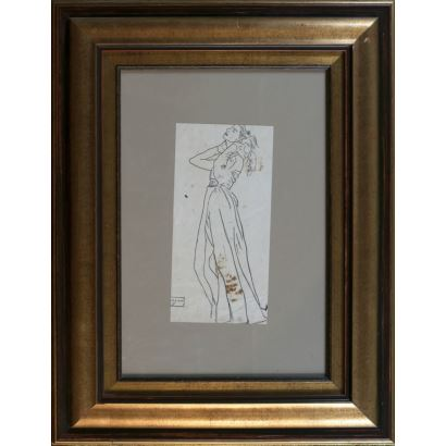 LAGAR, Celso (Ciudad Rodrigo, 1891-Sevilla, 1966). Dibujo a tinta sobre papel.