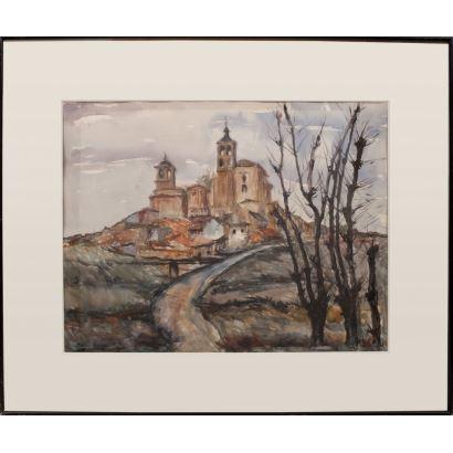 RENESES SANAHUJA, María (Madrid, 1908-1995).  Gouache.