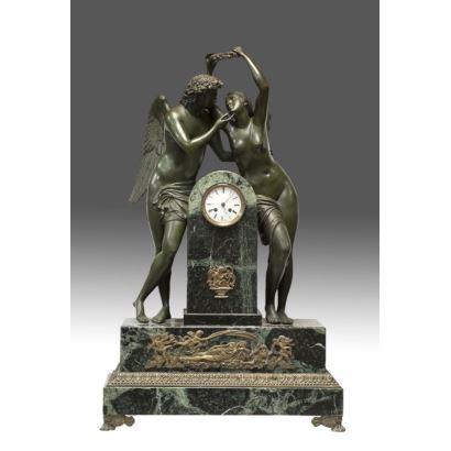 Reloj de sobremesa estilo Imperio. Francia, ss.XIX-XX.