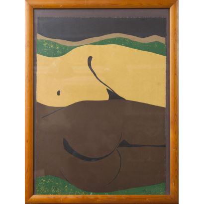 TORRES, Antoni (1951). Litografía. Numerada 34/150 y firmada a mano.
