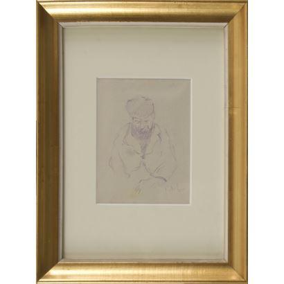 MEIFRÉN ROIG, Eliseo (Barcelona, 1859-1940). Dibujo a lápiz.