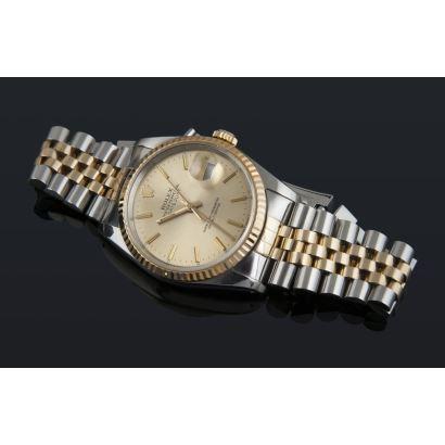 Reloj de pulsera ROLEX OYSTER PERPETUAL DATEJUST, en acero y oro amarillo.