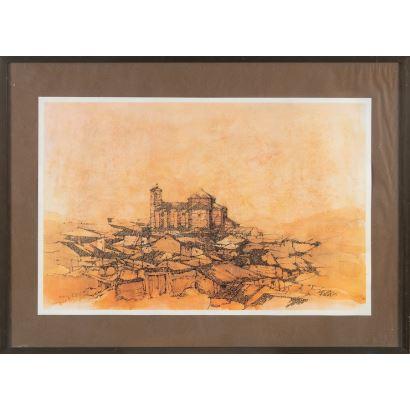 Impresión fotográfica. 76 cm x 46 cm (con marco) 61 cm x 41 cm (sin marco). Firmada y fechada en plancha.