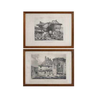 Pareja de litografías francesas, S. XIX. Forman parte de