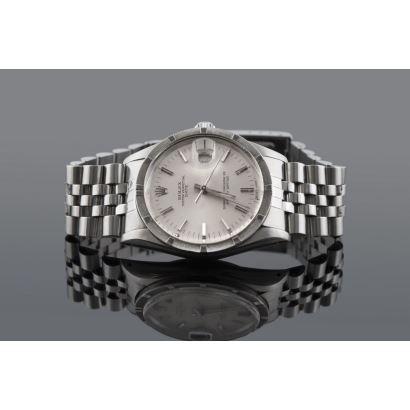 Reloj de pulsera ROLEX OYSTER PERPETUAL DATE,  tambor y pulsera en acero,  dial de fecha.