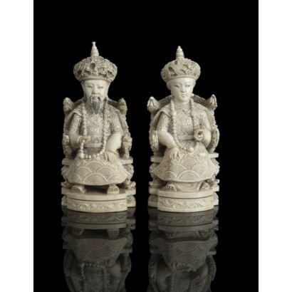 Pareja de emperadores chinos, PPIOS. S. XX.