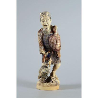 Okimono japonés, principios S. XX.