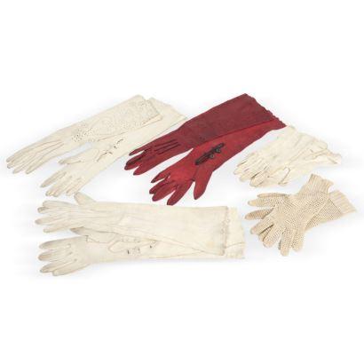 Textiles. Conjunto de guantes, PPIOS. S. XX