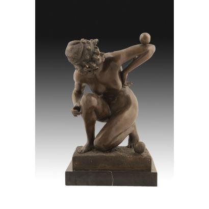 Escultura en bronce a la cera perdida.