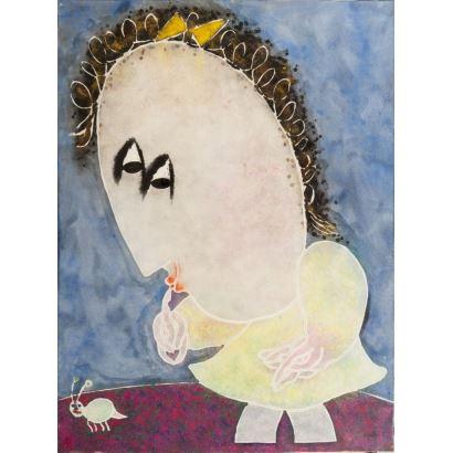 Pintura del siglo XX. GARCÍA RIPOLLÉS, Joan (Alzira, Valencia, 1932). Óleo sobre lienzo.