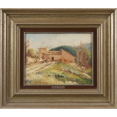 CERDÁ GIRONÉS, Jorge (Alcoy, Alicante, 1953).  Óleo sobre lienzo.