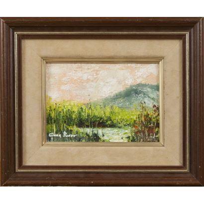 GINER BUENO, Luis (Godella, Valencia, 1935). Óleo sobre lienzo.