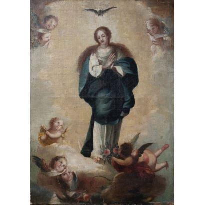 Óleo sobre lienzo. S. XVIII.