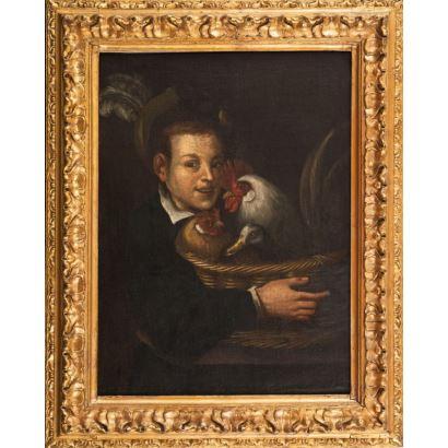 Óleo sobre lienzo. Siguiendo modelos de Vicenzo Campi, s. XVII.