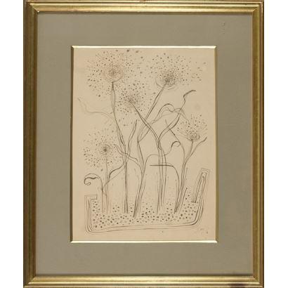 Manuel Baeza. dibujo, que aparece firmado por el propio autor en el ángulo inferior derecho. Al dorso  se especifica que