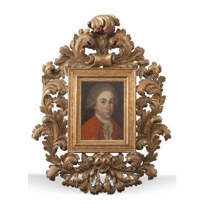 Escuela española, S. XVIII. Óleo sobre lienzo. Marco de época.