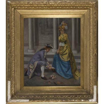 Pintura del siglo XIX. VICENTE POVEDA,
