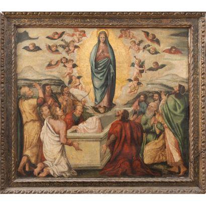 Escuela valenciana, S. XVI. Óleo sobre tabla.