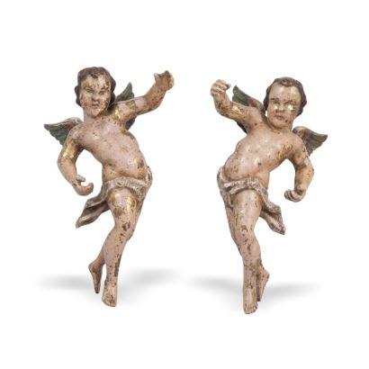 Pareja de ángeles, siglo XVIII.