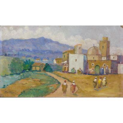 Pintura del siglo XX. Óleo sobre tabla.