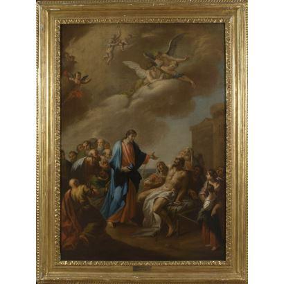 Óleo sobre lienzo. Escuela italiana. s.XVIII.