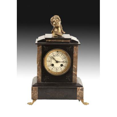 Reloj de sobremesa, estilo Napoleón III, S. XIX.