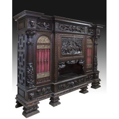 Muebles. Librería española estilo Renacimiento, pps. XX.