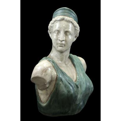 Busto en cerámica, pps. XX.