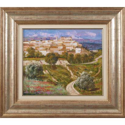 FUSTER, Rafael  (Alcoy, Alicante, 1928). Óleo sobre lienzo.