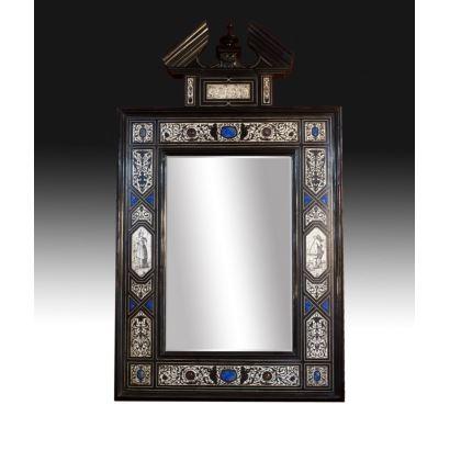 Espejo florentino, siglo XIX.