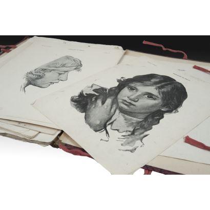 Ejercicios de dibujo, pps. XX.