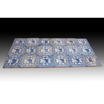 Mosaico de azulejos valencianos, S. XVII.