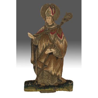 Bordado del siglo XVI, representa a