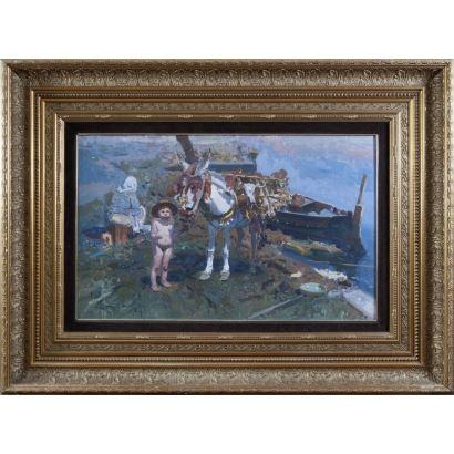 Pintura del siglo XX. EUSTAQUIO SEGRELLES DEL PILAR (Albaida, Valencia, 1936)