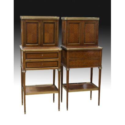 Muebles. Pareja de muebles estilo francés, pps. XX.